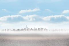 Cityscape on the horizon Stock Photography
