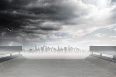 Cityscape on the horizon Stock Photos
