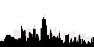 Cityscape horizon - Vector Royalty-vrije Stock Foto