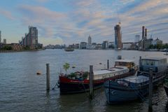 House boats on the Thames royalty free stock photo