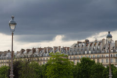 Cityscape of house building Paris style, France Stock Photography