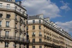 Cityscape of house building Paris style, Rue de Rivoli, Paris Fr Royalty Free Stock Images