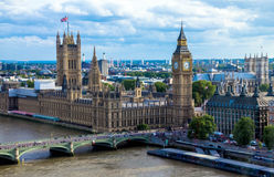Cityscape  with houses of Parliament , Big Ben and  Westminster Abbey . England Stock Photo