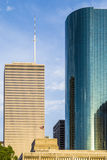 Cityscape of Houston in late Royalty Free Stock Photos