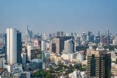 Cityscape i dagen på Bangkok, Thailand Arkivfoton