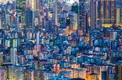 Cityscape i Hong Kong fotografering för bildbyråer