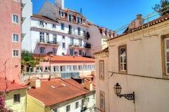 Cityscape i Lissabon, Portugal Arkivbilder