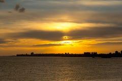 Cityscape i Montevideo, Uruguay royaltyfri fotografi