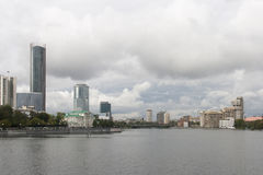Cityscape i yekaterinburg, ryssfederation arkivfoto