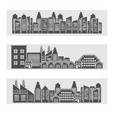 Cityscape icons banner Royalty Free Stock Image