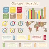 Cityscape icons infographic Royalty Free Stock Photos