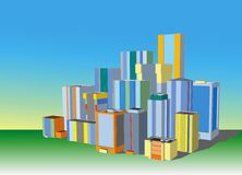 Cityscape illustratie Royalty-vrije Stock Foto's