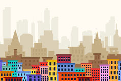 Cityscape. Is a  illustration Stock Photos