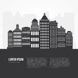 Cityscape Illustration Royalty Free Stock Photography