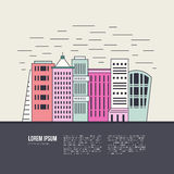 Cityscape Illustration Royalty Free Stock Images