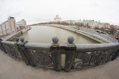 Cityscape with the image of bridge Stock Image