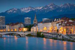 City of Grenoble, France. stock image