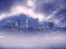 Cityscape image in Istanbul Stock Photo