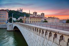 City of Lyon, France. Stock Images