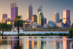 City of Perth. Royalty Free Stock Photo