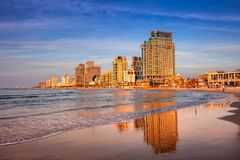 Tel Aviv. Cityscape image of Tel Aviv, Israel during sunset stock photography