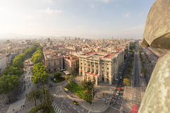 Cityscape including la rambla in Barcelona, Spain Royalty Free Stock Photography