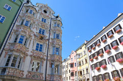 Cityscape of Innsbruck in Austria Stock Photography