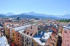 Cityscape of Innsbruck in Austria Stock Image