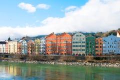 Cityscape of Innsbruck, Austria. Cityscape of Innsbruck and Inn river, Austria royalty free stock photo
