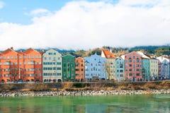 Cityscape of Innsbruck, Austria. Cityscape of Innsbruck and Inn river, Austria royalty free stock images