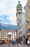 Cityscape of Innsbruck on Inn river Tirol Austria Stock Photos