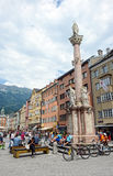 Cityscape of Innsbruck on Inn river Tirol Austria Royalty Free Stock Photography