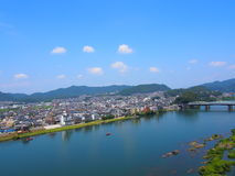 Cityscape of Inuyama city in Aichi, Japan Royalty Free Stock Photos