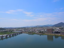 Cityscape of Inuyama city in Aichi, Japan Stock Photo