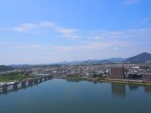 Cityscape of Inuyama city in Aichi, Japan Stock Photo