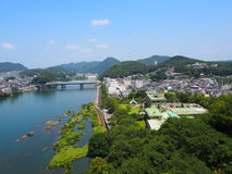 Cityscape of Inuyama city in Aichi, Japan Stock Photography