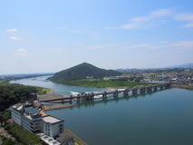 Cityscape of Inuyama city in Aichi, Japan Stock Images