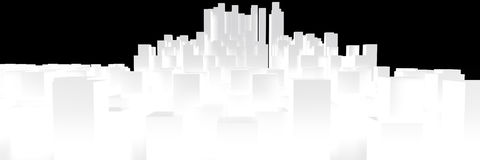 Cityscape. Isolated on white background, 3D rendering image Royalty Free Stock Photography