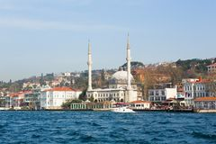 Cityscape of Istanbul with a mosque Stock Photo