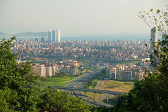 Cityscape from Istanbul with Prince Islands Royalty Free Stock Photography