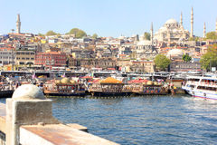 Istanbul panorama, Turkey stock photo