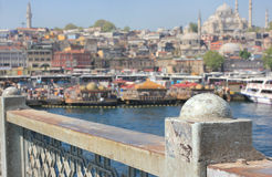 Istanbul panorama, Turkey royalty free stock photos
