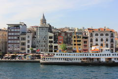 Istanbul panorama, Turkey, with Galata tower royalty free stock photography