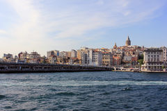 Istanbul panorama, Turkey, with Galata tower stock image