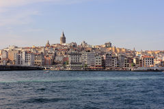 Istanbul panorama, Turkey with Galata tower stock photo