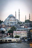 Cityscape of Istanbul. View on Istanbul, Süleymaniye Mosque on the background Royalty Free Stock Photography