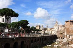 Cityscape of italian capital Rome Stock Photos