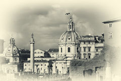 Cityscape of italian capital Rome Royalty Free Stock Image
