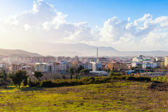 Cityscape of Izmir city in spring, Turkey Royalty Free Stock Photo