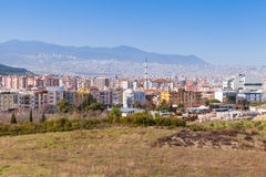 Cityscape of Izmir city, Turkey. Modern part Royalty Free Stock Image